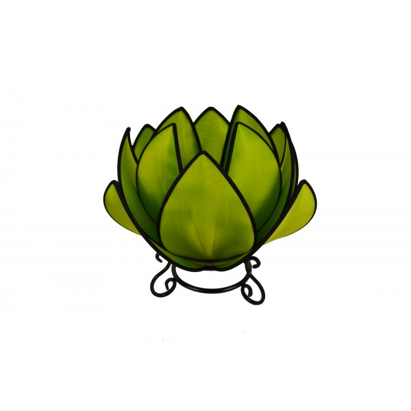 Waterlily lamp - green with black trim