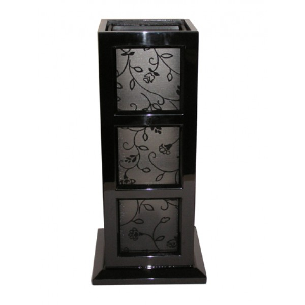 Table lamp - black with floral shade