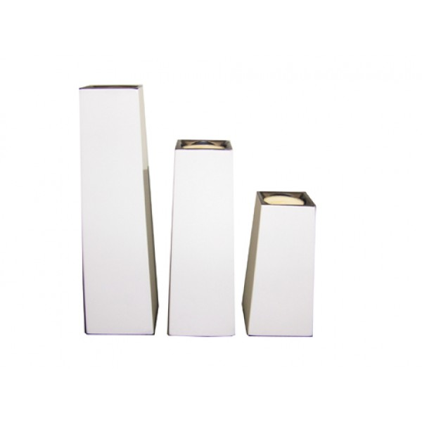Candle holder set x3 - white