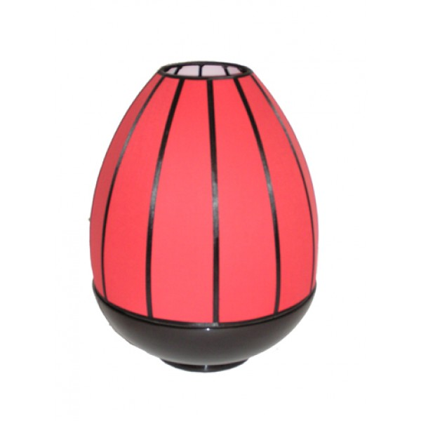 Dome lamp - black & red shade