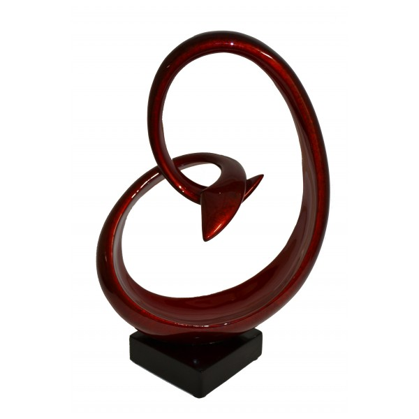 Lacquer sculpture - Red - RV/SCUT-108/3M