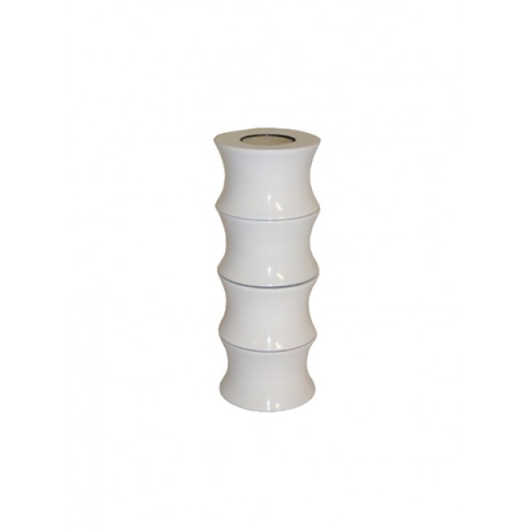Candle holder set x4 - white