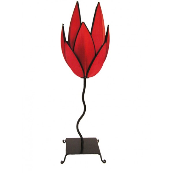 Artichoke lamp - red with black trim