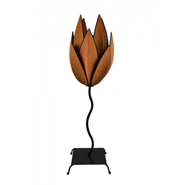 Artichoke lamp - Copper with black trim