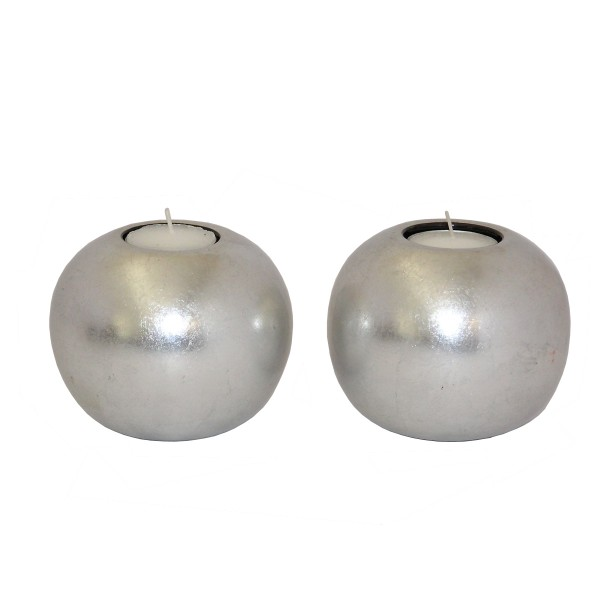 Ball tealight silver