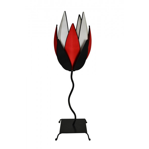Artichoke lamp - black, red & white
