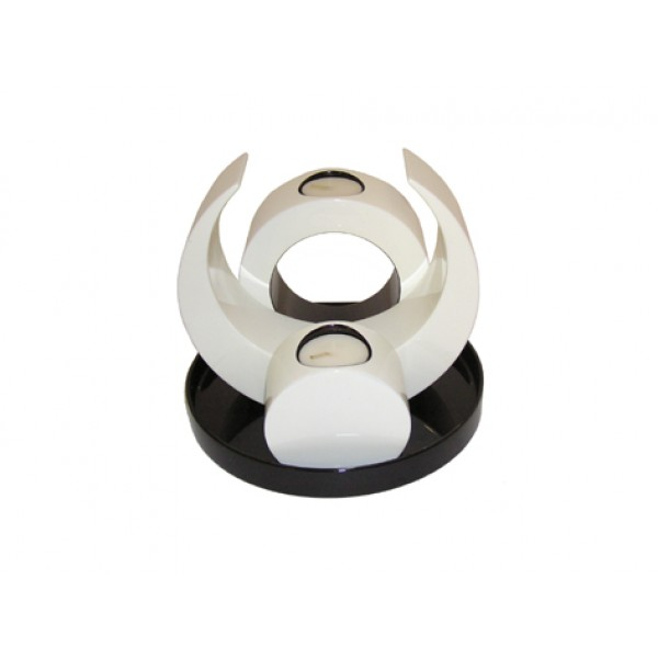 Candle holder set - white