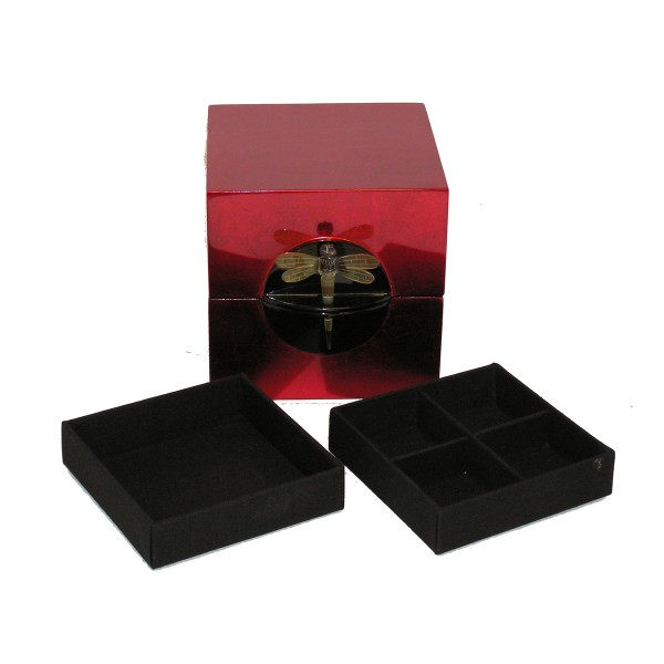 Jewelry box - square red