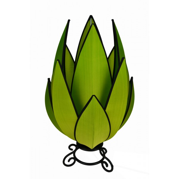Artichoke lamp - green with black trim