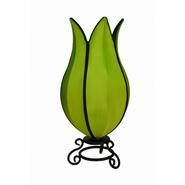 Tulip lamp 2 - green with black trim