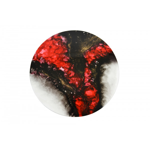 Round Lacquer Wall Art - Elements Range