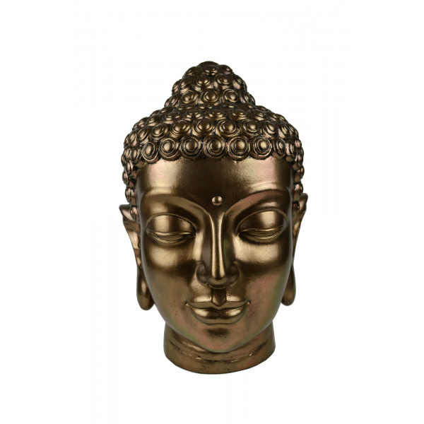 Buddha Head - Antique Copper