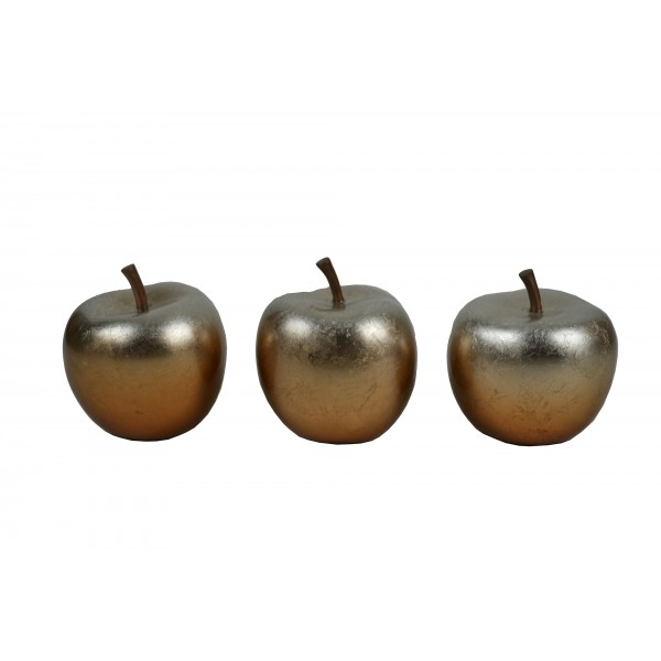 Set of three apple ornaments - Copper