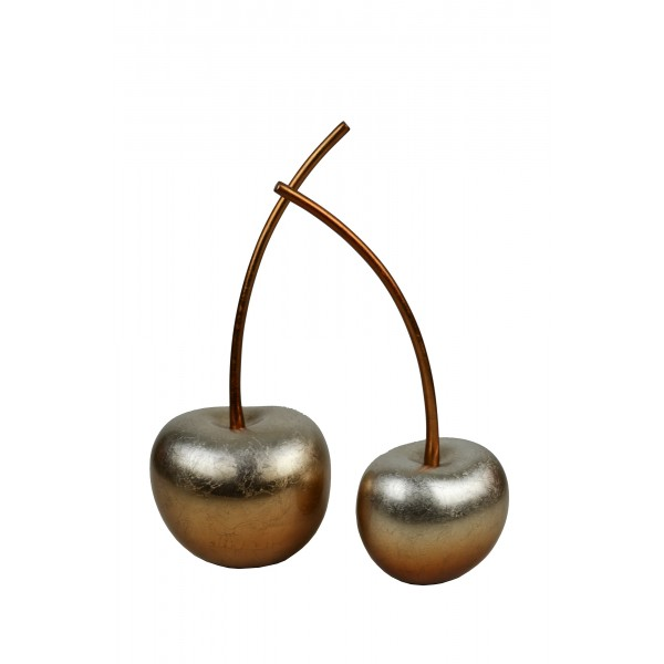 Set of two lacquer cherry sculptures - Copper